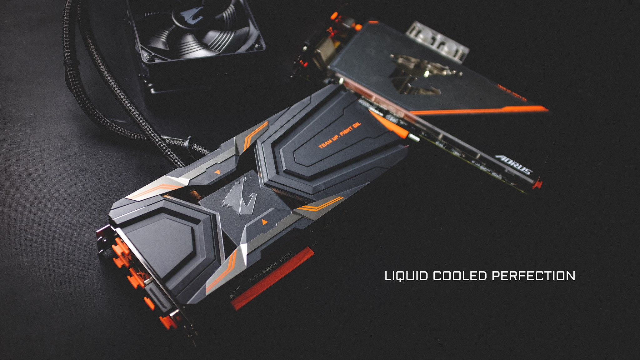 Two Liquid Cooled Aorus Geforce Gtx 1080 Ti Graphics Cards