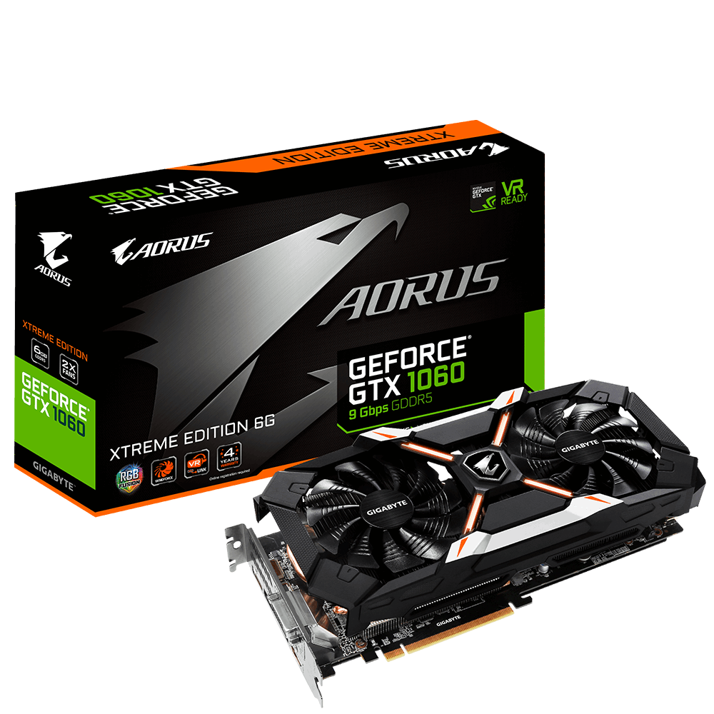 AORUS GeForce® GTX 1060 Xtreme Edition 6G 9Gbps