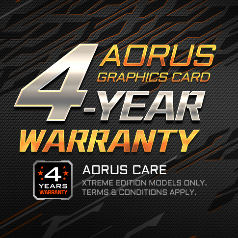 AORUS CARE 4-Year Warranty